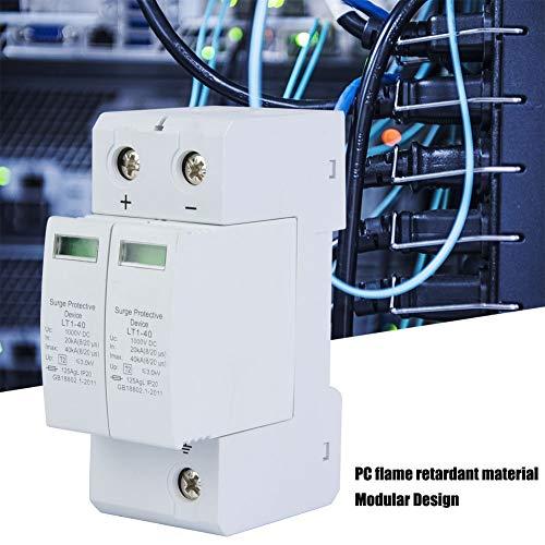 Dispositivo de Protección Contra Sobretensiones - 2P 40KA Pararrayos de Bajo Voltaje Protección Contra Rayos Fotovoltaicos de CC