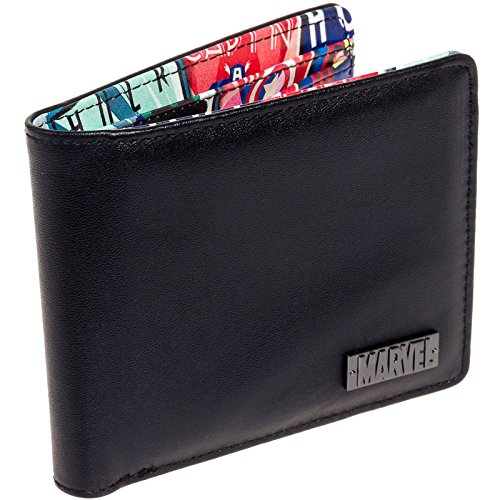 Marvel Comics Men's Retro Interior Print Bifold Wallet (Multi-Color)
