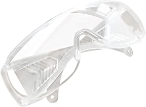 Bsjmlxg Safety Glasses, Adults Anti Saliva Goggles with Clear Anti Fog Scratch Resistant Wrap-Around Lenses and No-Slip Grips, UV Protection. (1 PCS-A)