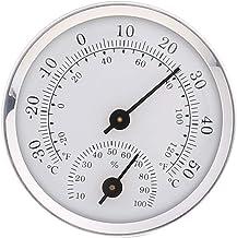 siwetg Thermomètre et hygromètre à fixation murale pour sauna chambre maison 58 mm de diamètre