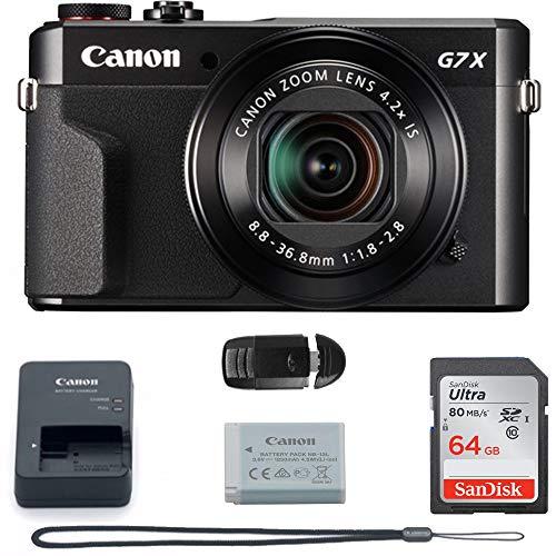Canon PowerShot G7 X Mark II (Black) International Version - 64GB Basic Accessories Bundle
