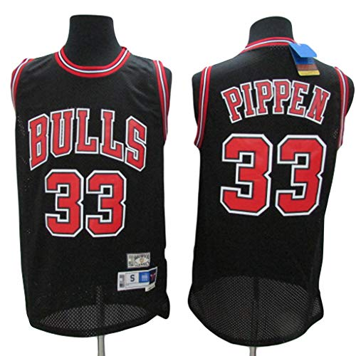 YHIU Herren Basketball Trikot Chicago Bulls Scottie Pippen # 33, Atmungsaktives Swing Man Trikot, Basketball Performance Tank Top-L