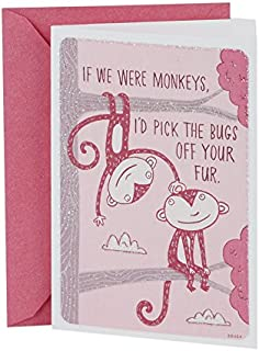 Hallmark Shoebox Funny Anniversary Card or Love Card for Significant Other (Monkeys)