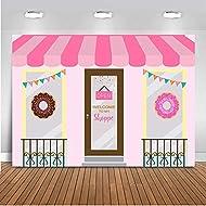 Mehofoto Donut Shoppe Backdrop Donut Cake Table Birthday Photography Background 7x5ft Vinyl Bonut up Baby Shower Party Banner Backdrops