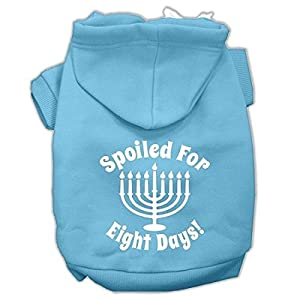 Mirage Pet Products 12″ Spoiled for 8 Days Screen Print Dog Pet Hoodie