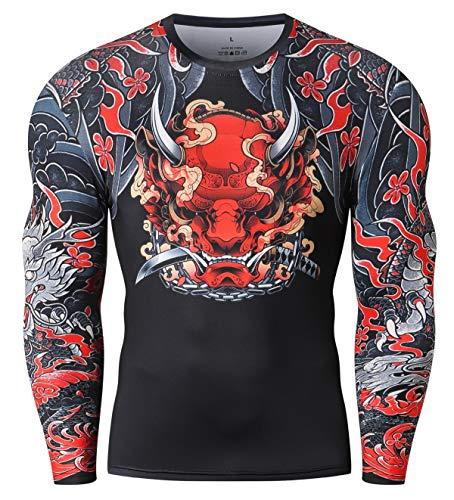 Cody Lundin Camisa de compresión para Hombre Camiseta con Estampado 3D Camiseta de compresión de Gimnasia Top de Manga Larga para Hombre (Style n, M)