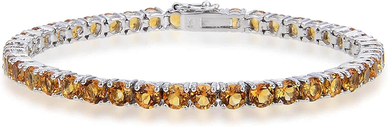 Fine Color Jewels Petite 10.5 carat Max 83% OFF outlet Ster in Bracelet 925 Citrine