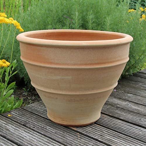 Pot de plantes en terre cuite, fabriqué à la main, haute qualité, résiste au gel, décor de jardin pot de fleurs 60 cm