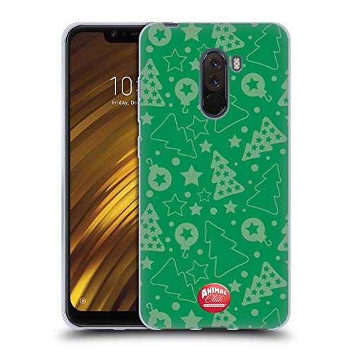 Head Case Designs Offizielle Animal Club International Weihnachtsbaum Gruen Kristall Muster Soft Gel Huelle kompatibel mit Xiaomi Pocophone F1 / Poco F1