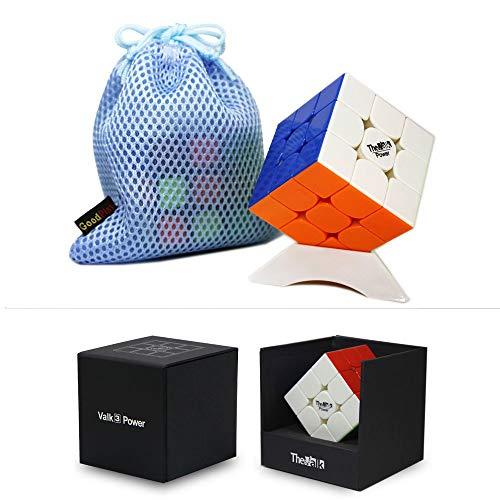 OJIN VALK 3 Power Valk3 Power Magic Cube 3x3x3 Smooth Magic Puzzle Cube con un trípode de Cubo y una Bolsa de Cubo (Sin Etiqueta)