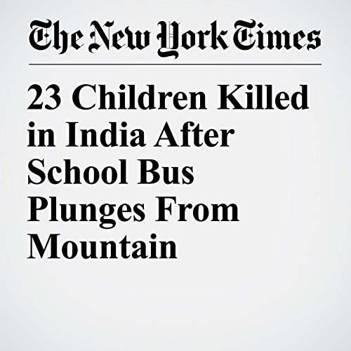 23 Children Killed in India After School Bus Plunges From Mountain copertina