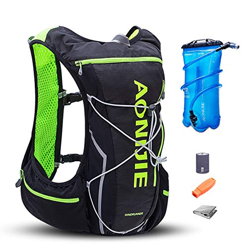 AONIJIE 10L Waterproof Running Hydration Backpack Lightweight Outdoor Sports Bag Hydration Pack Vest Backpack Rucksack for Marathon, Cycling, Riding, Running, Hiking