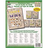 Donna Dewberry One Stroke Painting Instruction Reusable Teaching Paint Folk Art Double Sided Sheets Flowers Leaves Birds Critter Pack of 4