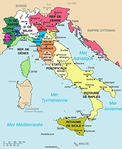 Gifts Delight Laminated 24x29 Poster Map of Italy 1494-fr