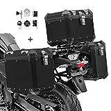 Maletas Laterales Aluminio + baul para Suzuki V-Strom 650 / XT GX38-45 Negro