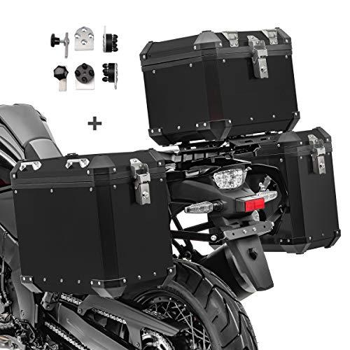Maletas Laterales Aluminio + baul para BMW F 800 GS/Adventure GX38-45 Negro