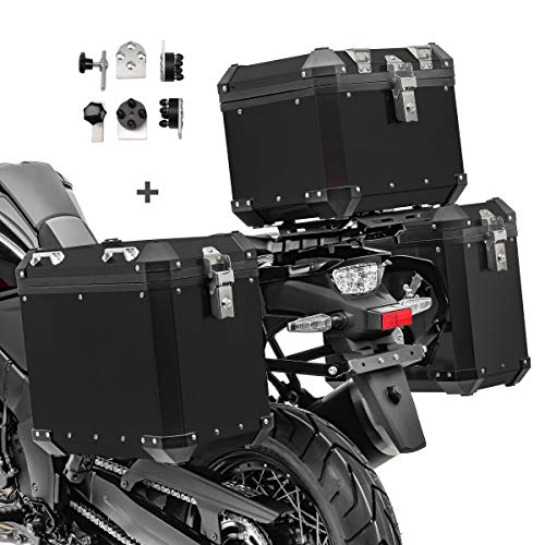 Maletas Laterales Aluminio + baul para Yamaha XT 600 E / 660 R GX38-45 Negro