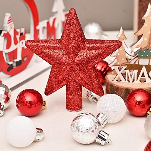 Tingz 30Pcs Adornos de Bolas de Navidad,Bola de decoración de árbol de Navidad con Colgante de Estrella Grande para la decoración del Banquete de Boda Festivo Decoraciones del Festival en casa(30mm)