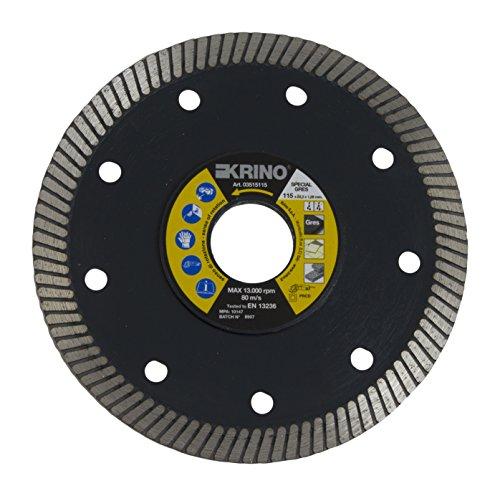 Krino 3515115 Disco DIAMANTATO Speciale per gres porcellanato, Ceramica e Piastrelle in Genere, Acciaio
