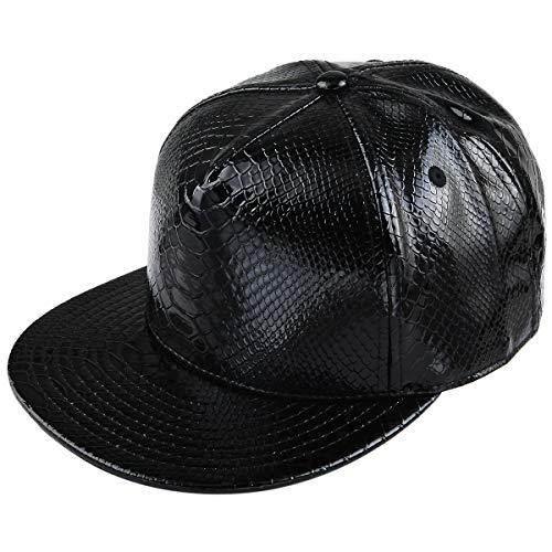 Shanxing Snapback Cap Hip Hop Mütze Baseball Kappe für Herren und Damen, 013-Schwarz, Einheitsgröße
