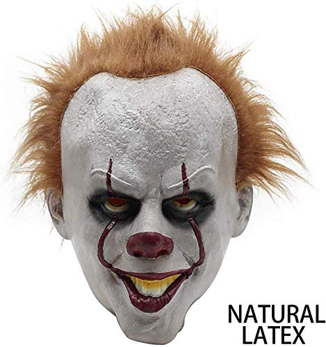 Halloween Clown Masker Latex Masker Film Pennywise Cosplay Masker Dark Knight Joker Mask Creepy Scary Cosplay Kostuum masker for volwassen partij Decoratie Props HAOSHUAI