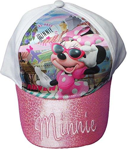 Disney Minnie Maus Cap - Minnies Travel Adventure - Das Reise Abenteuer mit Minnie - Rosa/Weiß/Mehrfarbig