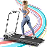 OVICX Portable Foldable Treadmill for Home with Photoelectric Heart-Rate Detection Running Machine...