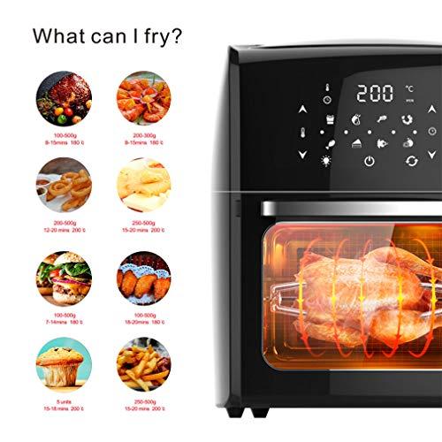51jtsRfog+L. SL500  - Digital Fry Air Fryer Toasterofen, Dörrgerät, mit 8 Voreinstellungen, inklusive Zubehör, zum Braten, Braten, Grillen, Backen, gesund ölfrei, 10 l, schwarz
