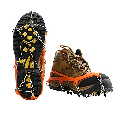 Micro Spikes Ice Snow Grips Cosyzone Traction Cleats Shoes Boots Crampons Grippers for Walking Mountaineering Hunting Hiking
