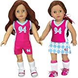 Sophia's Doll Sports Uniform, 3 Piece Sports Outfit for 18 Inch Dolls | Shirt, Shorts, Skirt | Gift Bag Included