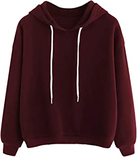 Women Solid Long Sleeve Hoodies Tops ❀ Ladies Solid Casual T-shirt Blouse Sweatshirt Tunic Tops Sport Coat