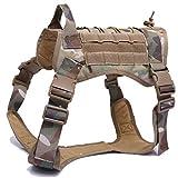 HXSZWJJ Impermeable 1000D Sistema De Nylon Molle Chaleco Táctico For Perros Arnés De Entrenamiento Militar Perro De Caza Chaleco For Perros Arnés For Perros De Policía (Color : CP, Size : L)