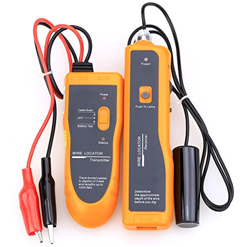 NF-816 Wire Cable Tester Underground Cables Tracker Test Wire Locator Metal Pipes Electrical Wires Telephone Wire Coax Cable with Earphone Finders