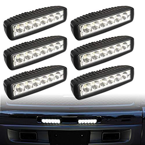 Hengda 6x18w LED Arbeitsscheinwerfer Rechteckig IP67 Wasserdicht 1800 LM,10-30V DC,6500K LED Arbeitsleuchte für SUV, Truck, Traktor oder schweres Gerät
