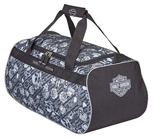 Harley Davidson Logo Sport Duffel Bag, Grey Tattoo, One Size