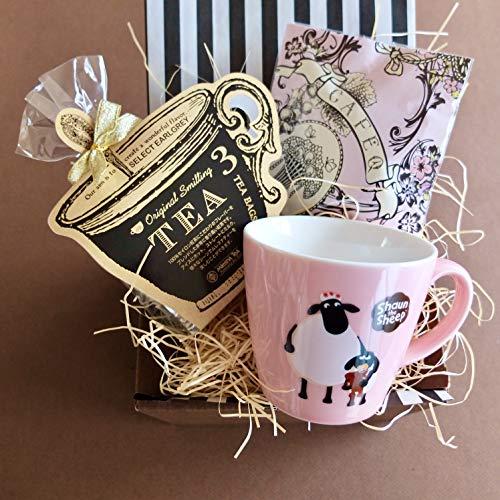 ティータイムギフト/ショーンマグ&紅茶&ストロベリーホワイトチョコセット (ピンクマグ)