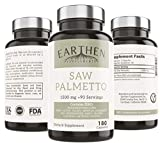 Saw Palmetto Supplement | Made with Organic Ingredients | 1500mg Per Serving - 180 Capsule 90 Servings | Vegan Friendly | China Free Ingredients | Non-GMO