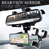 CQLEK® Premium- Car Phone Holder for Rear View Mirror Mount Stand | Anti Shake & Fall Prevention...