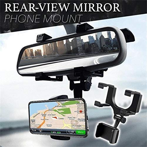 SPYKART Car Rear View Mirror Mount Holder, 360° Car Mount Holder, Freal Universal Smartphone Holders, Cell Phone Mount for iPhone 7/7s/8, iPhone X, Samsung Galaxy S6/S5, Mobile Phones, Android pho