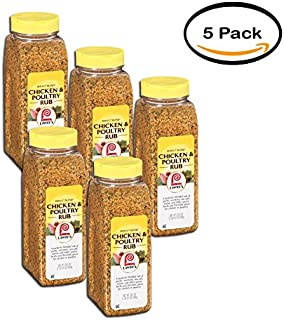 PACK OF 5 - Lawrys Perfect Blend Chicken & Poultry Rub, 24.5 oz. Shaker
