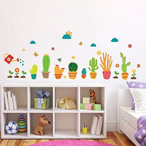WLWIN Garten Flower Pflanzen Wandsticker Nursery Baby -Kind -Raum -Fenster -Schrank Küche -Dekor -Blumen -Wand -Abziehbild -Kunst,Geschenk,Neues jahr