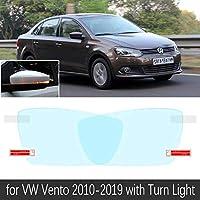 フォルクスワーゲン VW Vento 2010 ? 2019 フルカバーアンチフォグフィルムバックミラー防雨防曇フィルムクリーンカーアクセサリー 2017-Vento Has Turn Light
