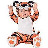 Amscan - Baby-Kostüm tapsender Tiger, Overall, Kapuze, Füßlinge, Kleinkinder, Tier, Karneval, Mottoparty