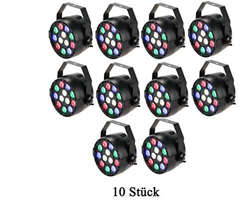 Lixada DMX-512 RGBW LED DJ Lichteffekt Disco Beleuchtung 8 Kanal 15W Wechselstrom 100-240V (10PCS)