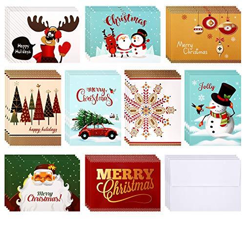 36 Stücke Weihnachten Grußkarte sortiert Frohe Feiertage Weihnachtskarten Festliche Frohe Weihnachten Karten mit Umschlägen, 4,7 x 7,1 Zoll