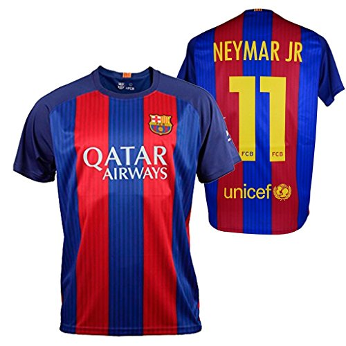 Fc Barcelona- Camiseta 1ª Equipación Adulto 2016-2017, Réplica Oficial Neymar- Talla Xl