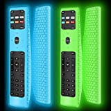 2 Pack Silicone Protective Case Cover for New XRT136 Vizio Smart LCD LED TV Remote Control,Shockproof XRT136 Vizio Remote Replacement Case,Soft Durable Remote Bumper Back Covers-Glowblue+Glowgreen