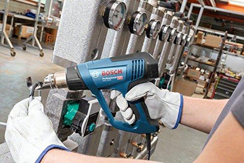 Bosch Professional Heißluftpistole GHG 23-66 (2300 Watt, Temperaturbereich 50-650 °C, Display, 2 Düsen, in Tragetasche)