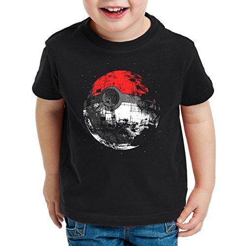 style3 Poke Death T-Shirt für Kinder Todesstern Star Ball Monster Videospiel, Größe:128
