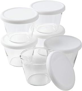 イワキ プリンカップ150ml KBT905[シリコン蓋付6個セット] (ホワイト)